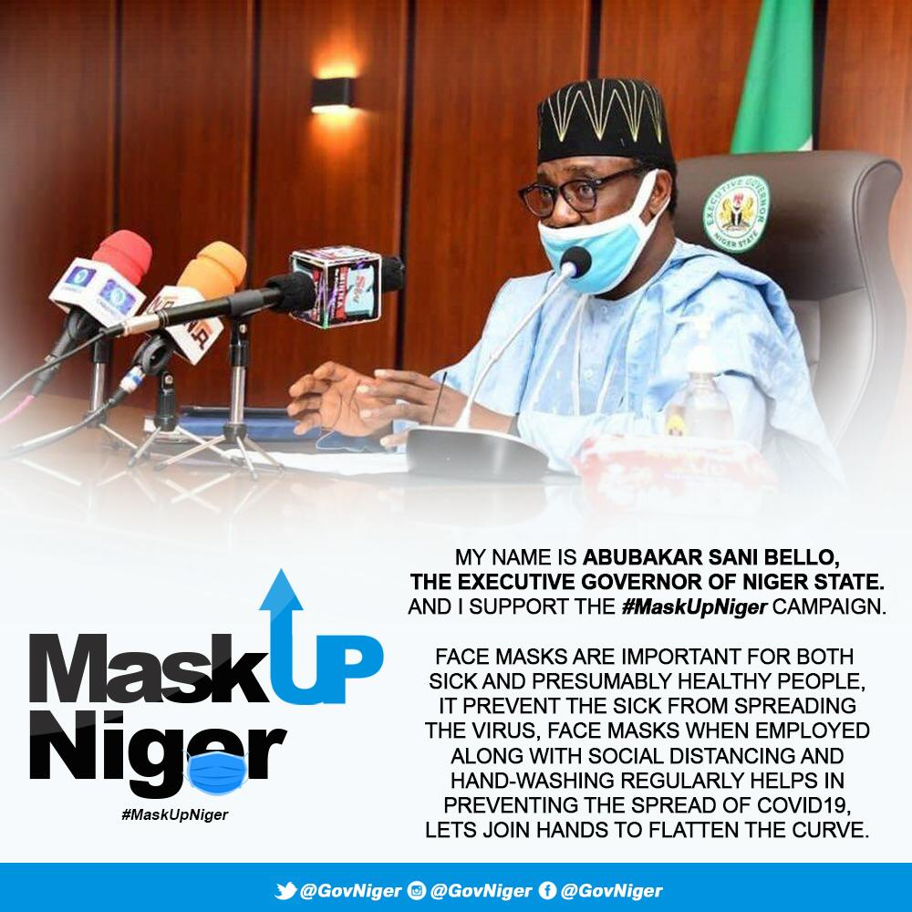 COVID19: NIGER STATE GOVERNMENT REITERATES COMPULSORY USE OF FACE MASK AS VIOLATORS RISK ARREST