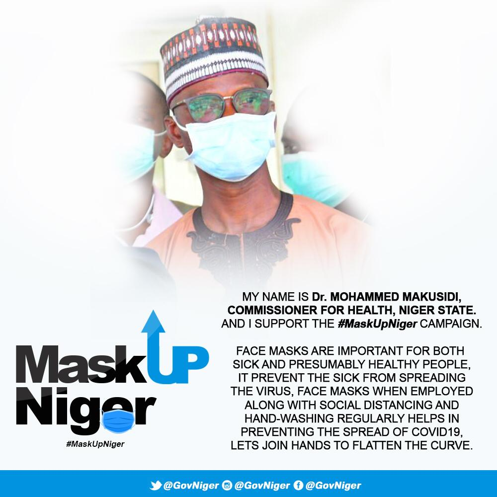 Niger State Government has Reiterated the Compulsory Use of Face Mask