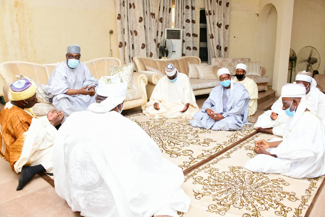 GOVERNOR SANI BELLO PAYS CONDOLENCE VISIT TO KONTAGORA EMIRATE COUNCIL