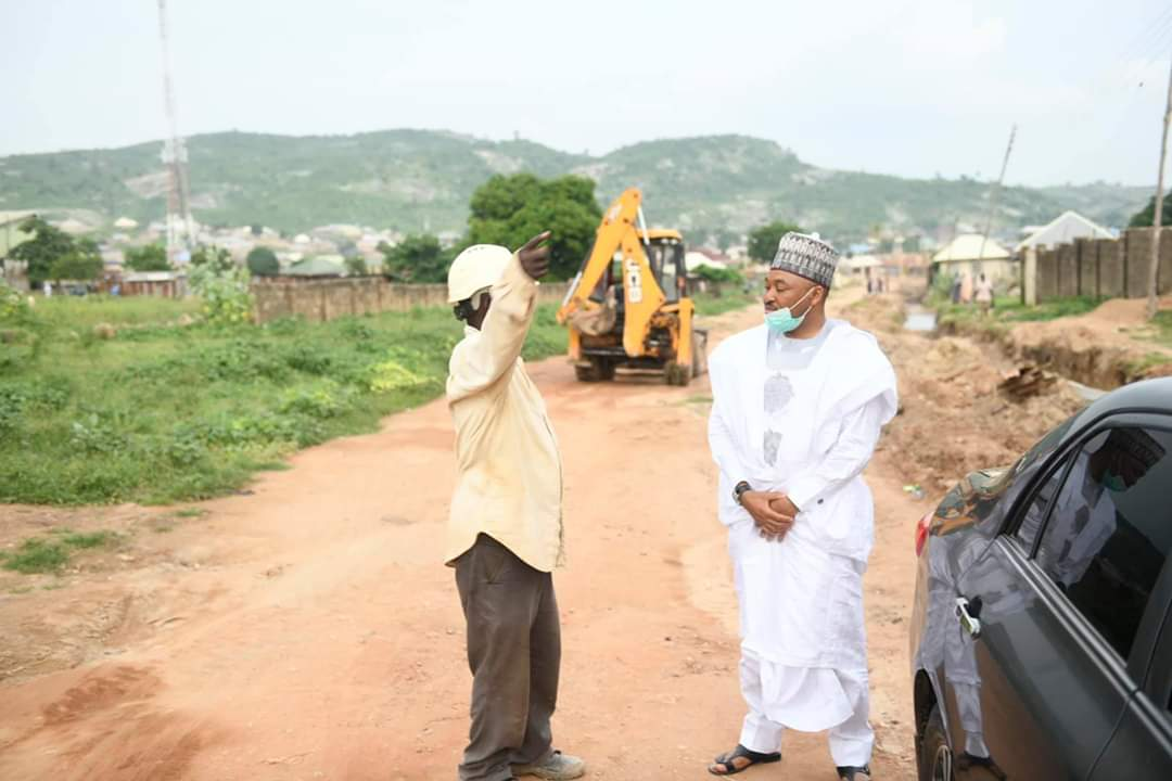 On-going Construction of Tayi-Abattoir Road in Minna by Governor Abubakar Sani Bello (Photo)