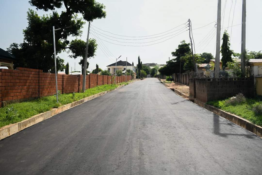 Complete Construction of Two Roads in London Street, Minna, constructed by Governor Abubakar Sani Bello