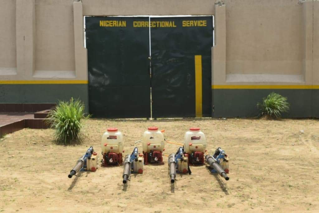 Disinfection of the Minna Medium Prison to help keep the #Covid19 as Directed by Governor Abubakar Sani Bello