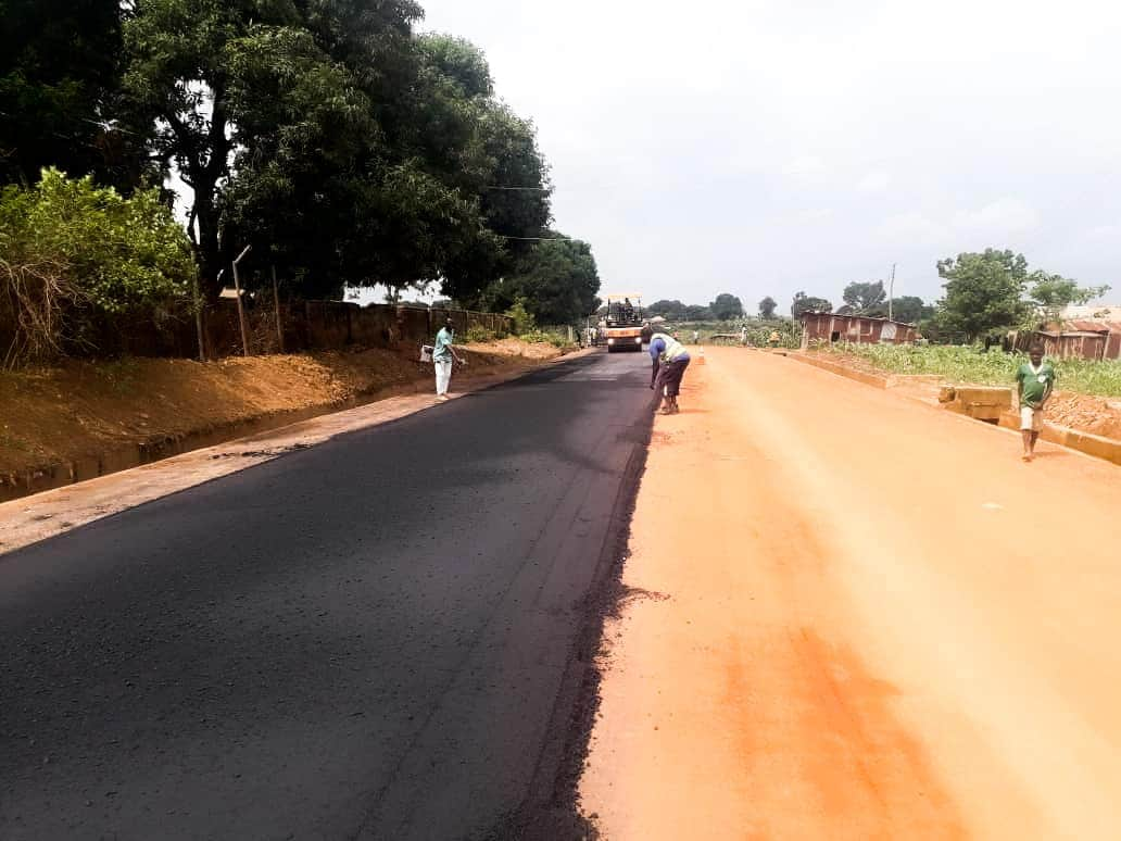 Construction of the 10km Tagwai-Dam Road in Minna by Governor Abubakar Sani Bello