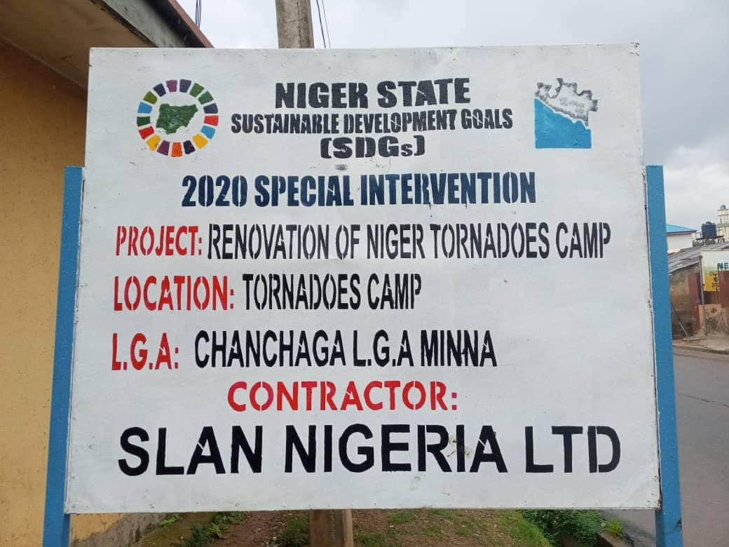 Complete Renovation of Niger Tornadoes Football club camp in Tunga Minna by Niger State Government/SDG.