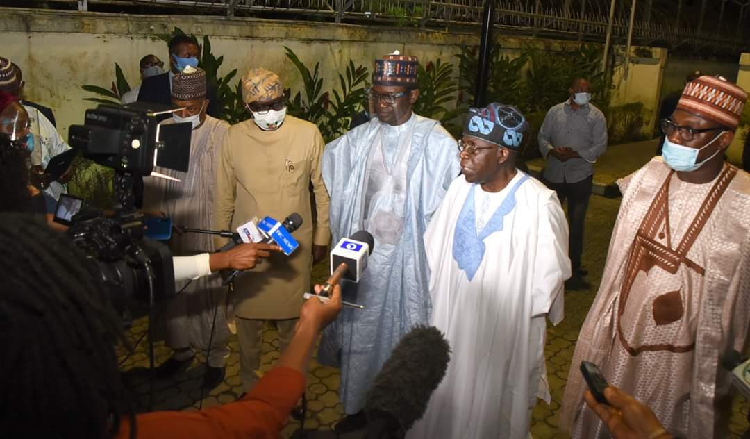 APC National Leader, Asiwaju Bola Ahmed Tinubu Courtesy Visit