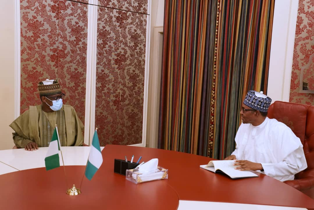 ROADS IN NIGER: GOVERNOR ABUBAKAR SANI BELLO MEETS PRESIDENT BUHARI