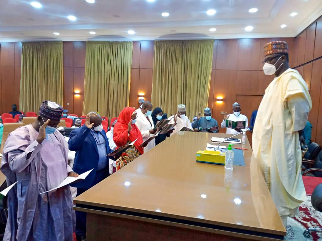 GOVERNOR ABUBAKAR SANI-BELLO SWEARS IN NEW PERMANENT SECRETARIES