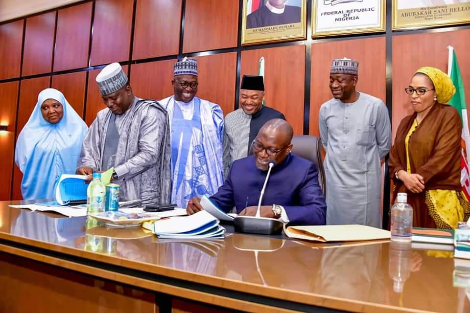 GOVERNOR ABUBAKAR SANI BELLO ASSENTS TO LAWS ESTABLISHING AGENCY FOR MOTOR VEHICLES ADMINISTRATION AND AGENCY FOR TRAFFIC MANAGEMENT